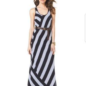 Michael Kors Maxi Dress with Belt, Size M